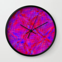swellings in coral and blue Wall Clock