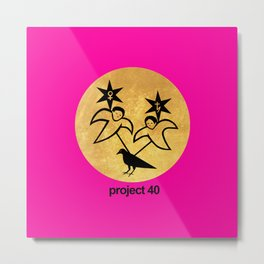 project 40 pink Metal Print