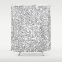 Frost & Ash - an Art Nouveau Inspired Pattern Shower Curtain