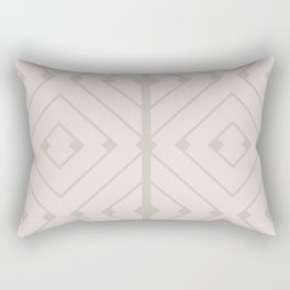 MONO:CHROMA Geometrica Earthy Pink II Rectangular Pillow