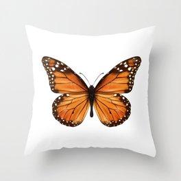 monarch butterfly Throw Pillow