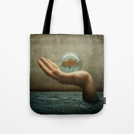 Flooded Hand Tote Bag