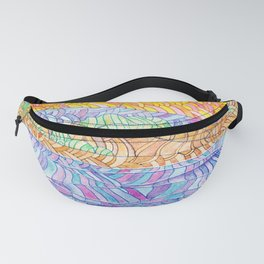 Lighthouse. abstract colorful background Fanny Pack