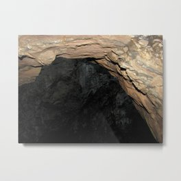 Secret Of The Blue Cave Metal Print