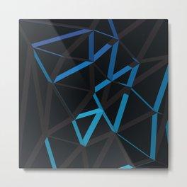 3D Futuristic GEO Lines VI Metal Print