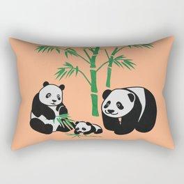Giant Panda Family Rectangular Pillow