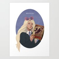 luna lovegood Art Prints featuring luna lovegood by Sara Meseguer