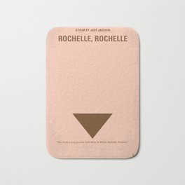 No354 My Rochelle Rochelle minimal movie poster Bath Mat