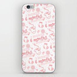 Baby developement milestone pattern design iPhone Skin