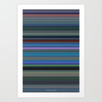 finding nemo Art Prints featuring Finding Nemo - Color Use by Charlie Clark