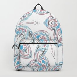 Stars And Hearts Pattern Backpack