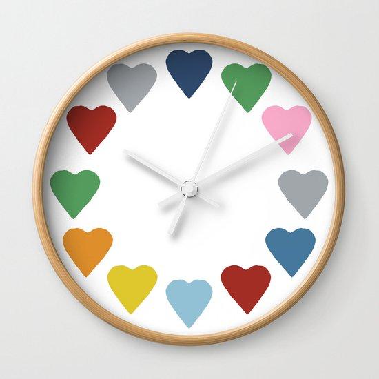 16 Hearts Wall Clock