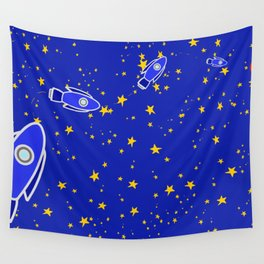 Rocketship to Mars Wall Tapestry