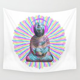 Electric Budha Wall Tapestry
