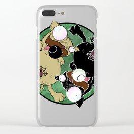 Pug Yin Yang Clear iPhone Case