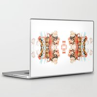 foxes Laptop & iPad Skins featuring Foxes by Edward Yeung