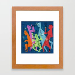 Mid-Century Modern Jazz Band Framed Art Print