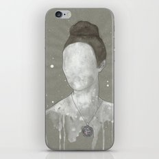 girl with kütahya porcelain çini necklace iPhone & iPod Skin