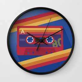80s Retro Tape Deck Wall Clock