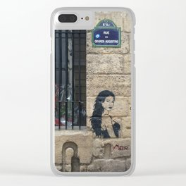 The look on her face... Clear iPhone Case