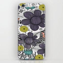 Whimsical BoHo Floral Pattern iPhone Skin