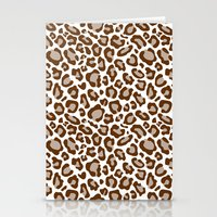 leopard Stationery Cards featuring Leopard by Zen and Chic