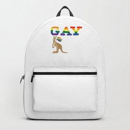 Australian LGBT LGBTQ Gay Homo Trans Lesbian Australia Pride Day Gift Backpack