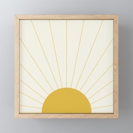 Sunrise / Sunset Minimalism Framed Mini Art Print