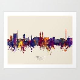 Bremen Germany Skyline Art Print