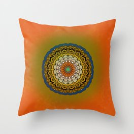 Round Colorful Design Throw Pillow