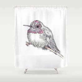 The Rufus Hummingbird Shower Curtain