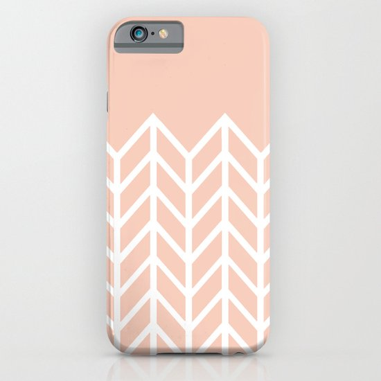 LACE CHEVRON (PEACH) iPhone & iPod Case