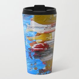 Beach Tide Acrylics On Stretched Canvas Travel Mug