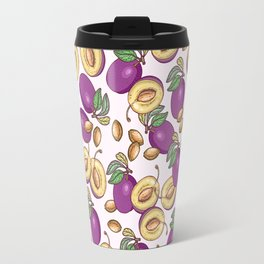 Romantic plum pattern Travel Mug