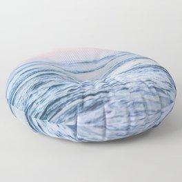 Pacific Ocean Waves Floor Pillow
