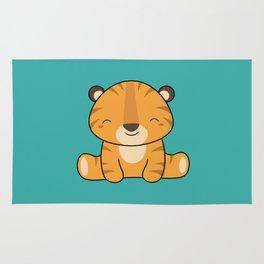 Kawaii Cute Baby Tiger Rug