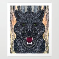 panther Art Prints featuring Panther by ArtLovePassion