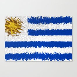 Extruded flag of Uruguay Canvas Print