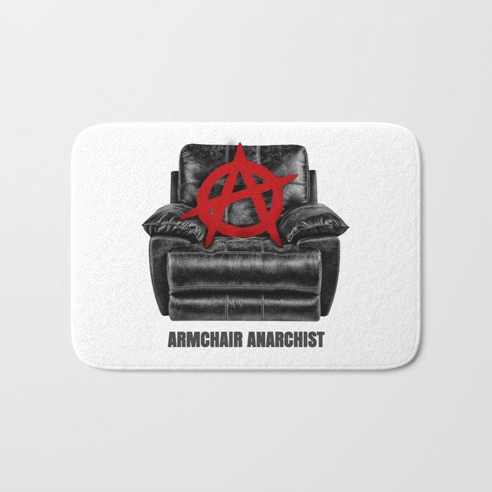 armchair anarchist Bath Mat