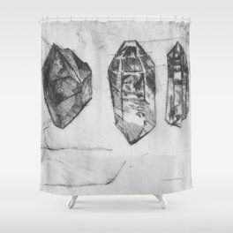 Trilogy of Gem Stones Shower Curtain