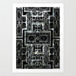 SILVER ARTDECO  Art Print