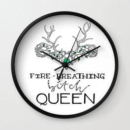 FIRE-BREATHING Wall Clock