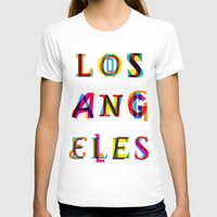 los angeles T-shirts featuring Los Angeles by Fimbis
