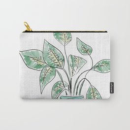 Plant in Blue Vase Carry-All Pouch