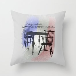 Empty Chairs at Empty Tables Throw Pillow