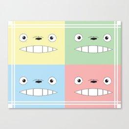 Pastel Totoros Canvas Print