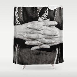 Working Hands Shower Curtain