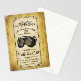 Steampunk Apothecary Shoppe - Goggles Stationery Cards