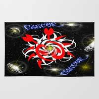 cancer Area & Throw Rugs featuring Cancer by TrinityHawk Photography & Multimedia