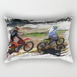 On His Tail - Motocross Sports Art Rectangular Pillow